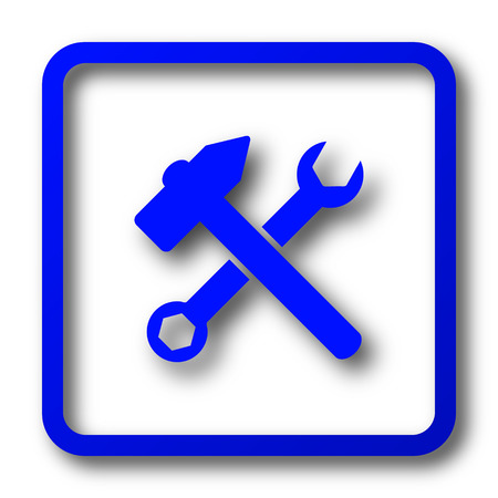 addition: Tools  icon. Tools  website button on white background.