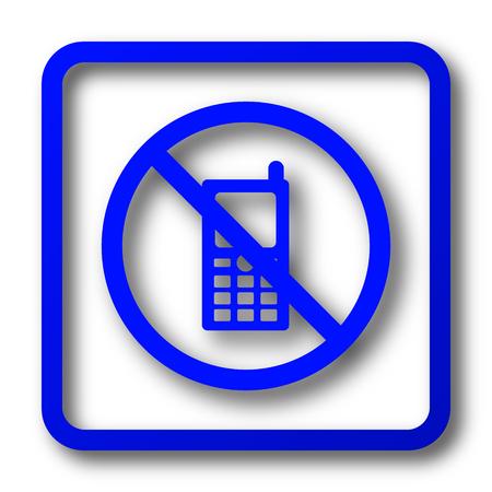 携帯電話は、アイコンを制限されています。携帯電話は、白い背景の上のウェブサイトのボタンを制限されています。