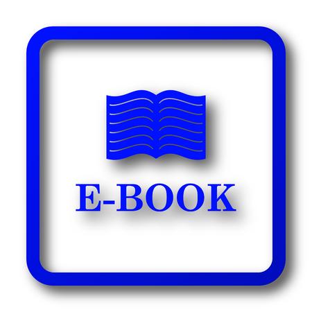 E-book icon. E-book website button on white background.