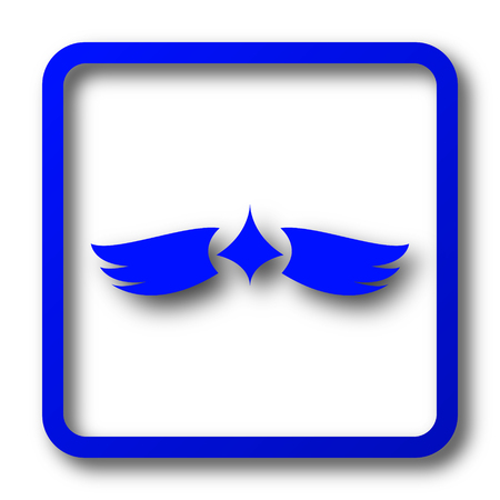 pacification: Wings icon. Wings website button on white background.
