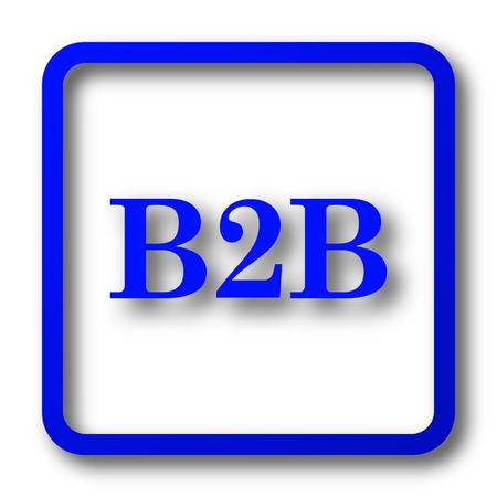 b2b: B2B icon. B2B website button on white background.