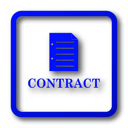 Contract icon. Contract website button on white background. Stock Photo