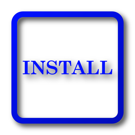 operative system: Install icon. Install website button on white background.