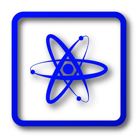 Atoms icon. Atoms website button on white background.