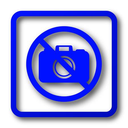 Forbidden camera icon. Forbidden camera website button on white background. Stock Photo