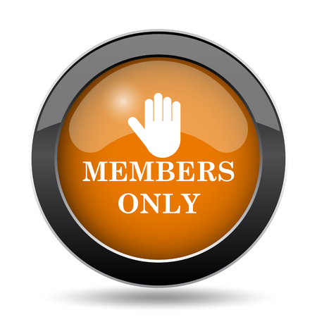 grant: Members only icon. Members only website button on white background.
