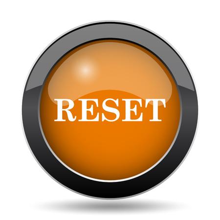 Reset icon. Reset website button on white background. Stok Fotoğraf