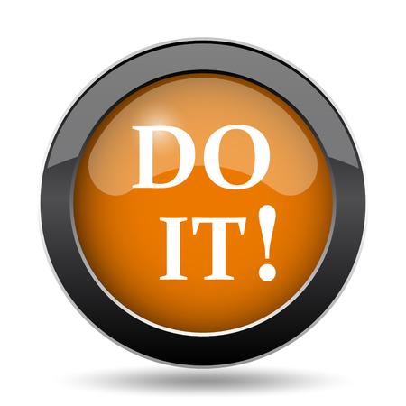 Do it icon. Do it website button on white background. Stock Photo