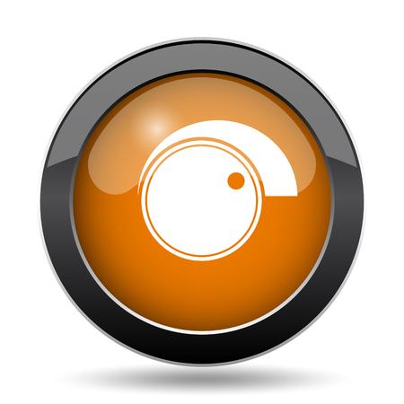 ボリューム コントロールのアイコン。白い背景の上のボリューム コントロールのウェブサイト ボタン。