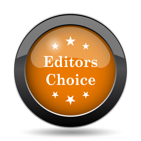 editors: Editors choice icon. Editors choice website button on white background.