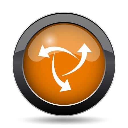 Change icon. Change website button on white background.
