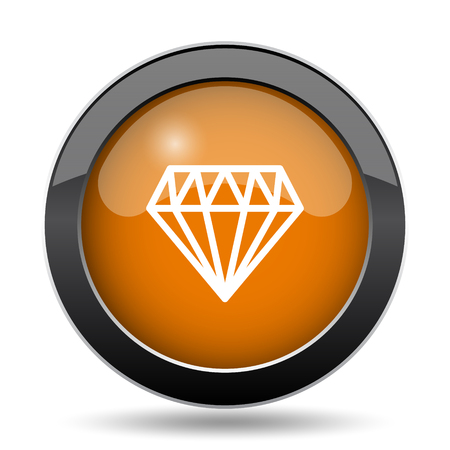 karat: Diamond icon. Diamond website button on white background.