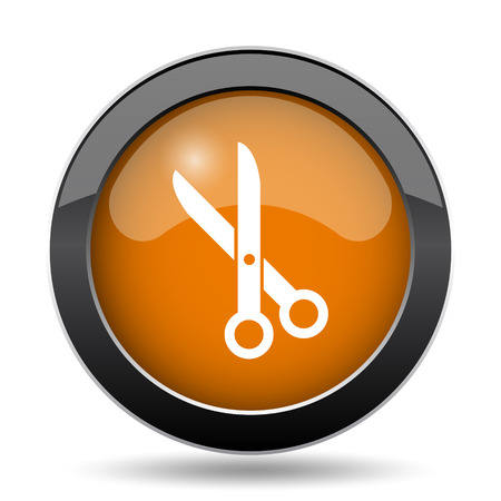 Cut icon. Cut website button on white background.
