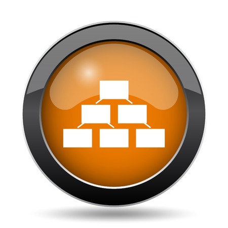 organizational chart: Organizational chart icon. Organizational chart website button on white background.