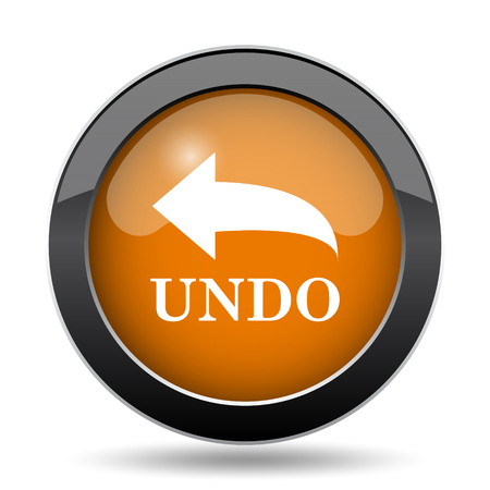 Undo icon. Undo website button on white background. Stock Photo