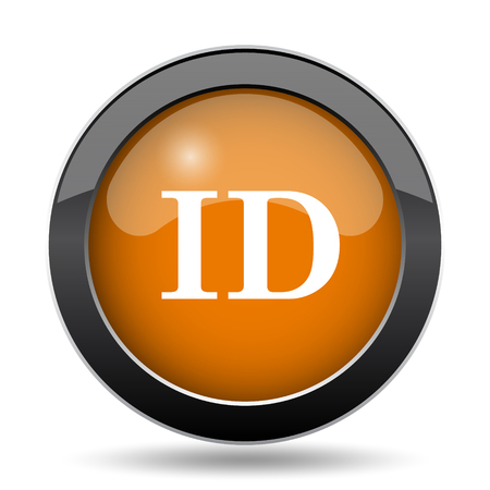 ID icon. ID website button on white background.