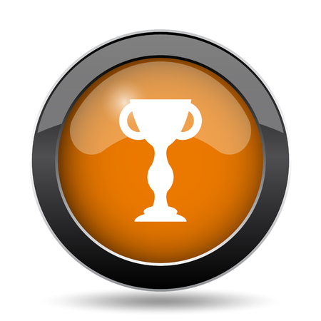 award winning: Winners cup icon. Winners cup website button on white background.