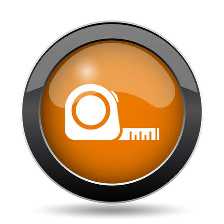 size: Tape measure icon. Tape measure website button on white background. Stock Photo