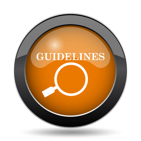 Guidelines icon. Guidelines website button on white background.