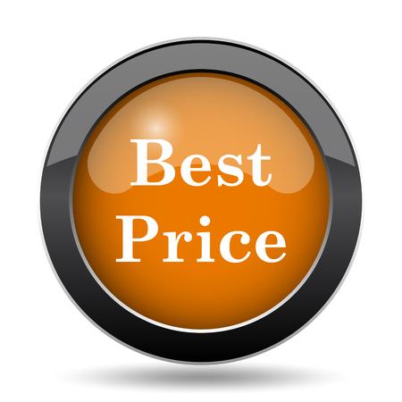 最高の価格のアイコン。白い背景の上の最高価格ウェブサイト ボタン。