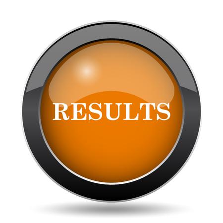 Resultados icono. Resultados botón de página web en el fondo blanco. Foto de archivo - 78312294