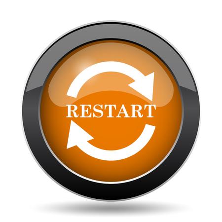 Restart icon. Restart website button on white background.