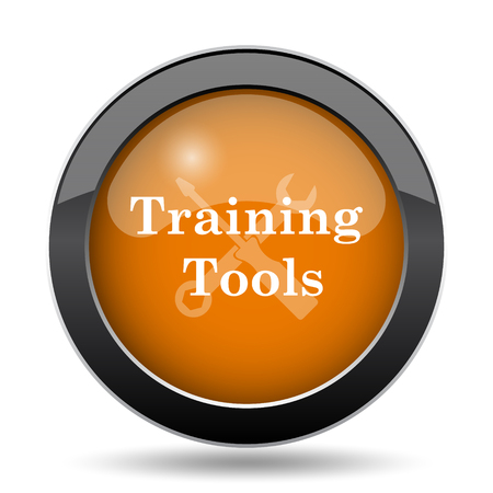 study group: Training tools icon. Training tools website button on white background.