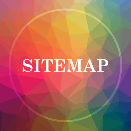 Sitemap icon. Sitemap website button on low poly background.