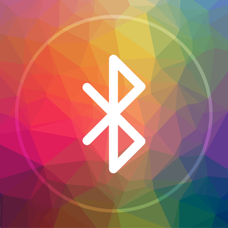 bluetooth: Bluetooth icon. Bluetooth website button on low poly background.