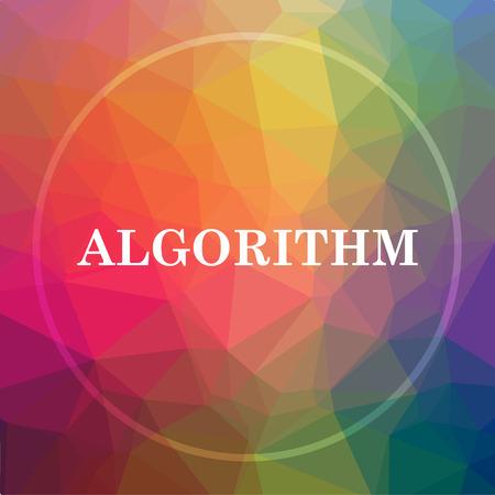 Icône Algorithme. Le bouton du site Algorithm sur un fond poly inférieur. Banque d'images - 78785800