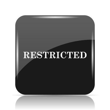 hazard: Restricted icon. Internet button on white background. Stock Photo