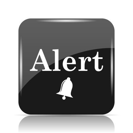 hazard: Alert icon. Internet button on white background.