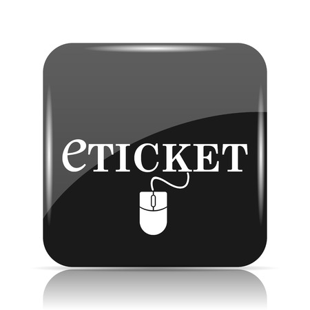 Eticket icon. Internet button on white background. Stock Photo