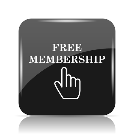 Free membership icon. Internet button on white background. Imagens