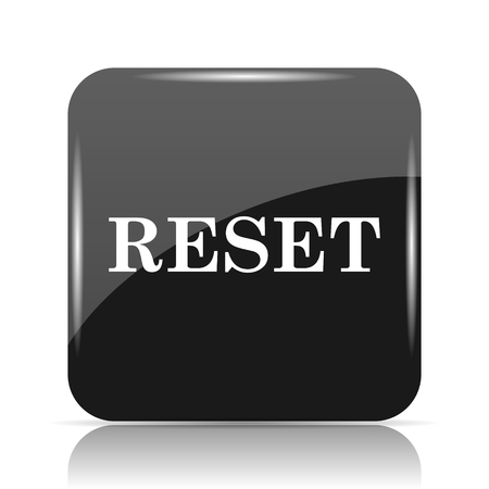 begin: Reset icon. Internet button on white background.