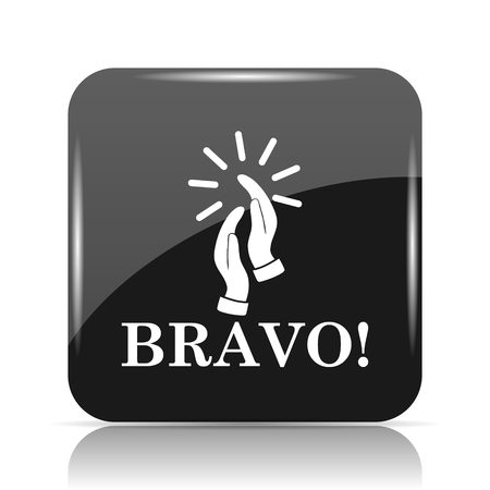 Bravo icon. Internet button on white background. Banco de Imagens - 80047898