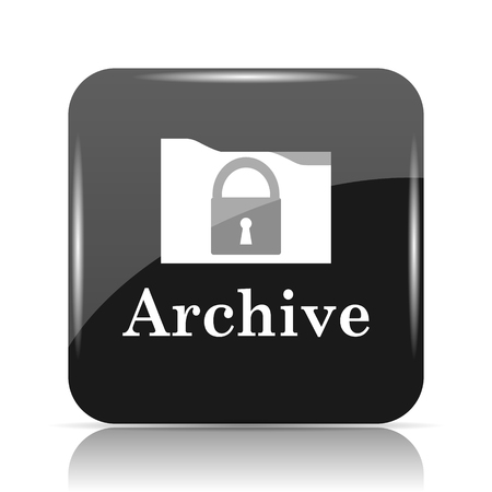 Archive icon. Internet button on white background.