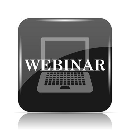 course development: Webinar icon. Internet button on white background. Stock Photo