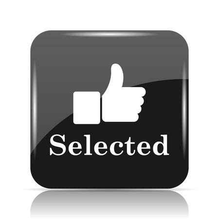 Selected icon. Internet button on white background. Stock Photo