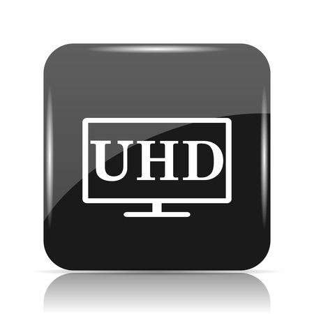 Ultra HD icon. Internet button on white background.