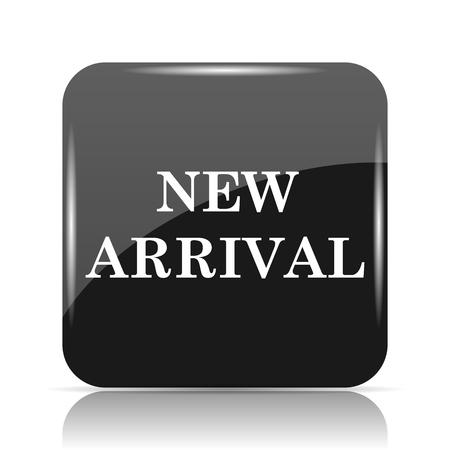 Icona Nuovo arrivo. internet pulsante su sfondo bianco. Archivio Fotografico - 80047754