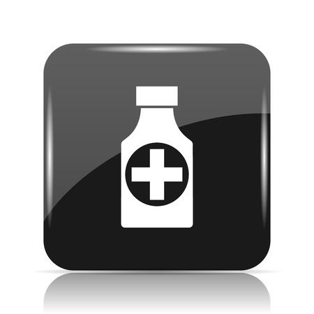 Pills bottle  icon. Internet button on white background. Stock Photo