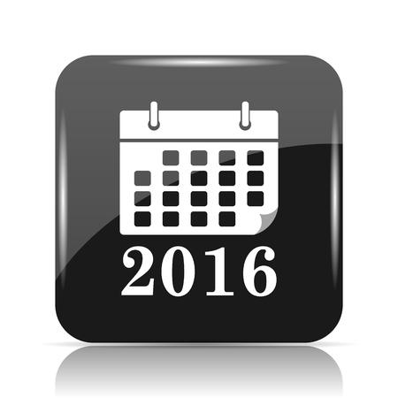 2016 calendar icon. Internet button on white background. Stock Photo