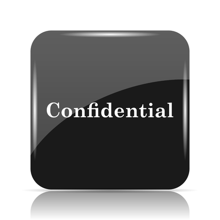 classified: Confidential icon. Internet button on white background.