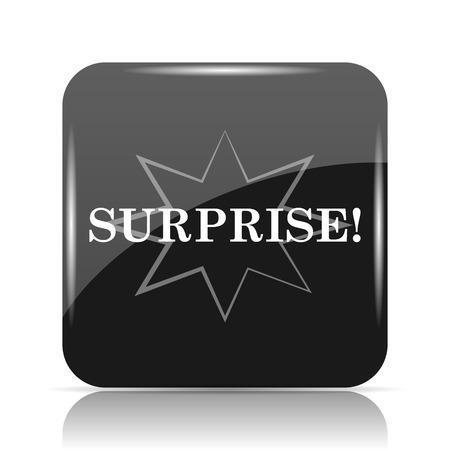 Surprise icon. Internet button on white background. Stock Photo