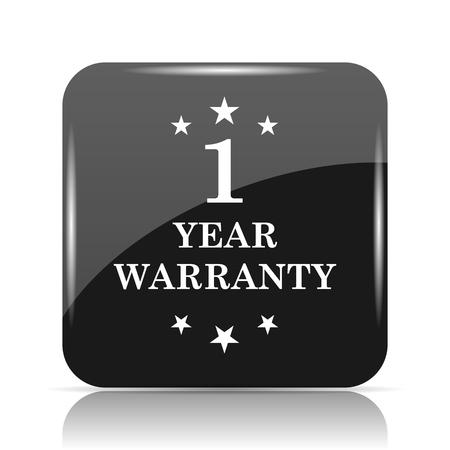 1 year warranty icon. Internet button on white background. Imagens - 80049589