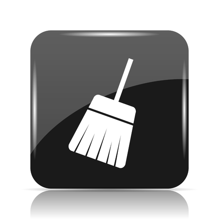 bristles: Sweep icon. Internet button on white background.