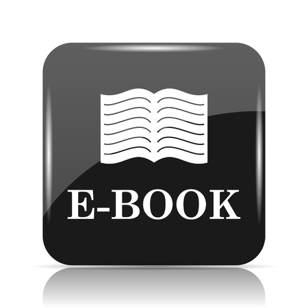 E-book icon. Internet button on white background.