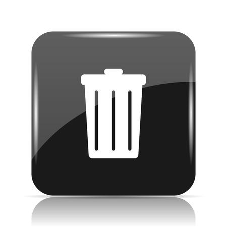 Bin icon. Internet button on white background. Stock Photo