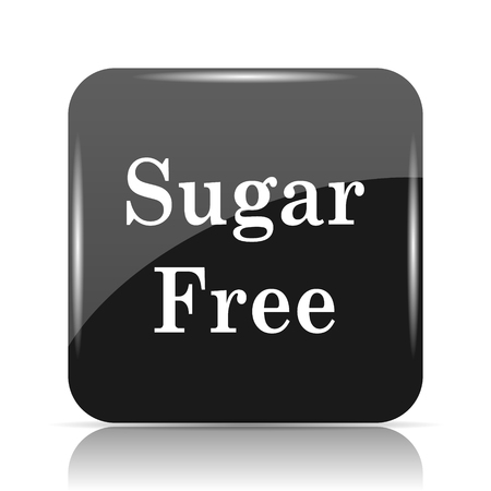 Sugar free icon. Internet button on white background.